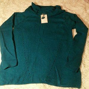 Dana Buchman tuscny teal sweater